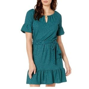 Michael Kors Keyhole Ruffle Hem Dress Small NWT
